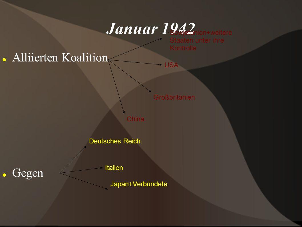 Januar 1942 Alliierten Koalition Gegen