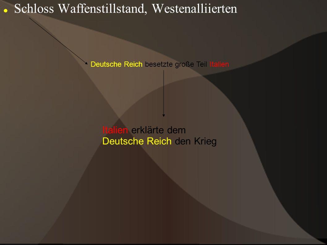 Schloss Waffenstillstand, Westenalliierten