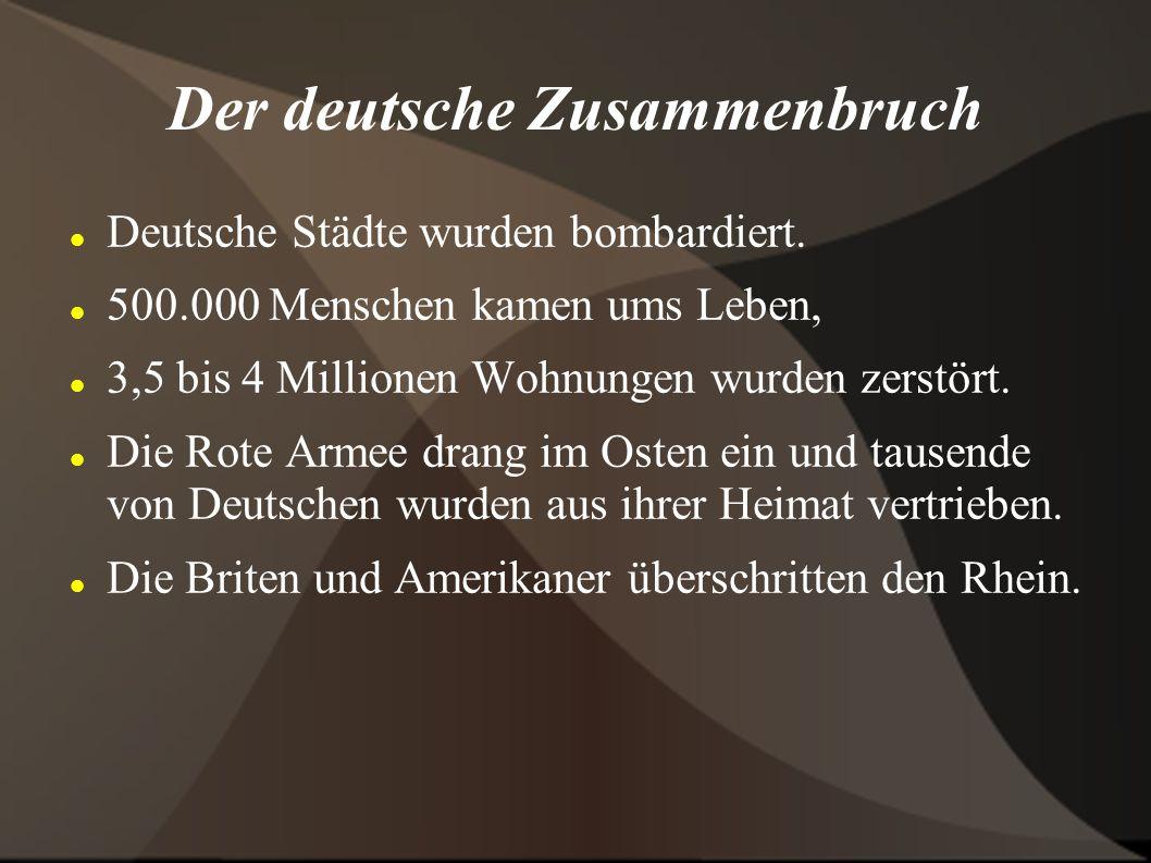 Der deutsche Zusammenbruch