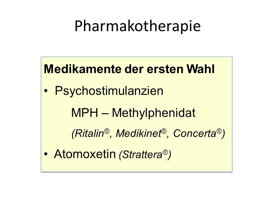 Pharmakotherapie Medikamente der ersten Wahl Psychostimulanzien