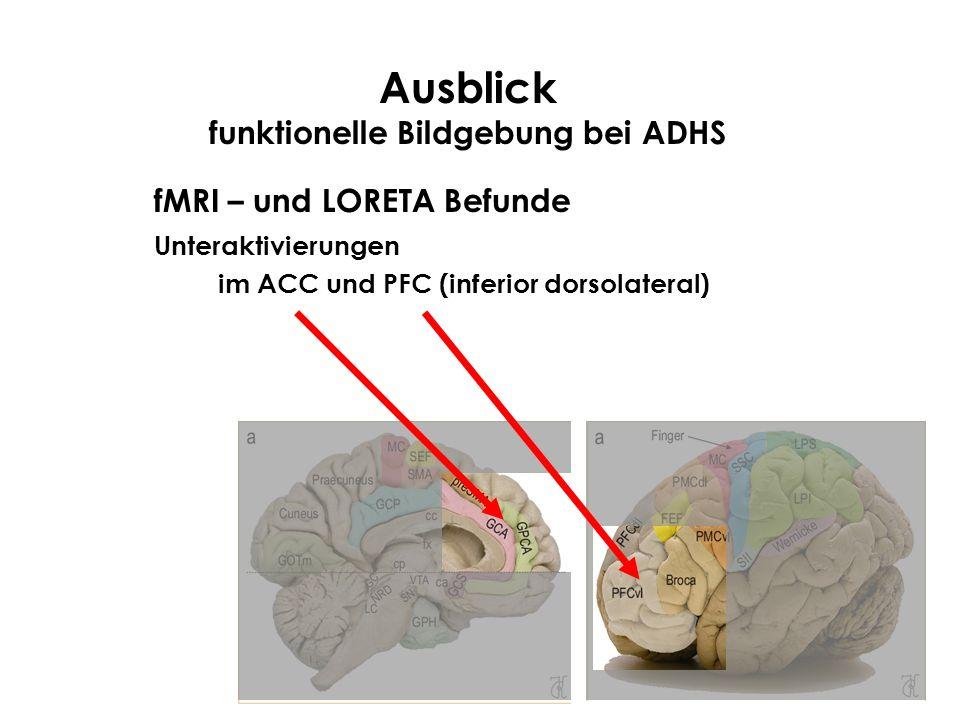 Ausblick funktionelle Bildgebung bei ADHS