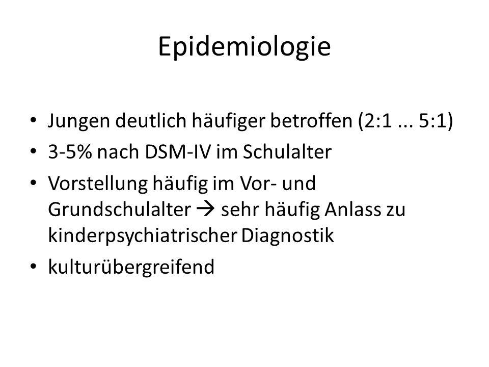 Epidemiologie Jungen deutlich häufiger betroffen (2:1 ... 5:1)