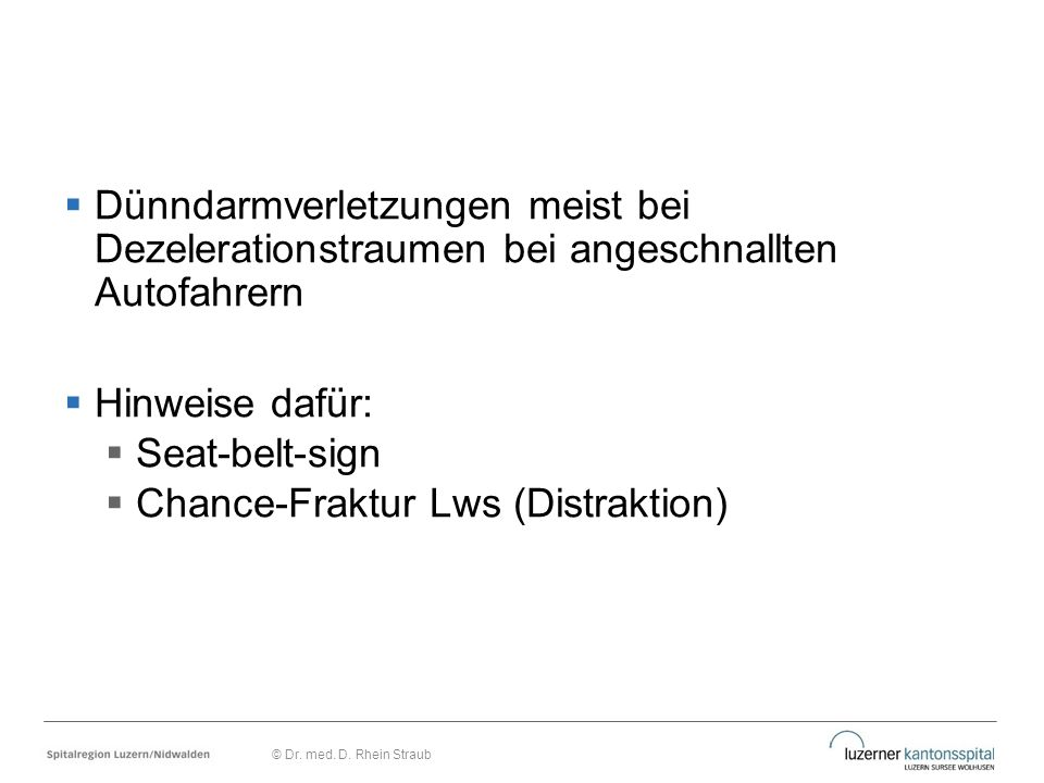 Chance-Fraktur Lws (Distraktion)