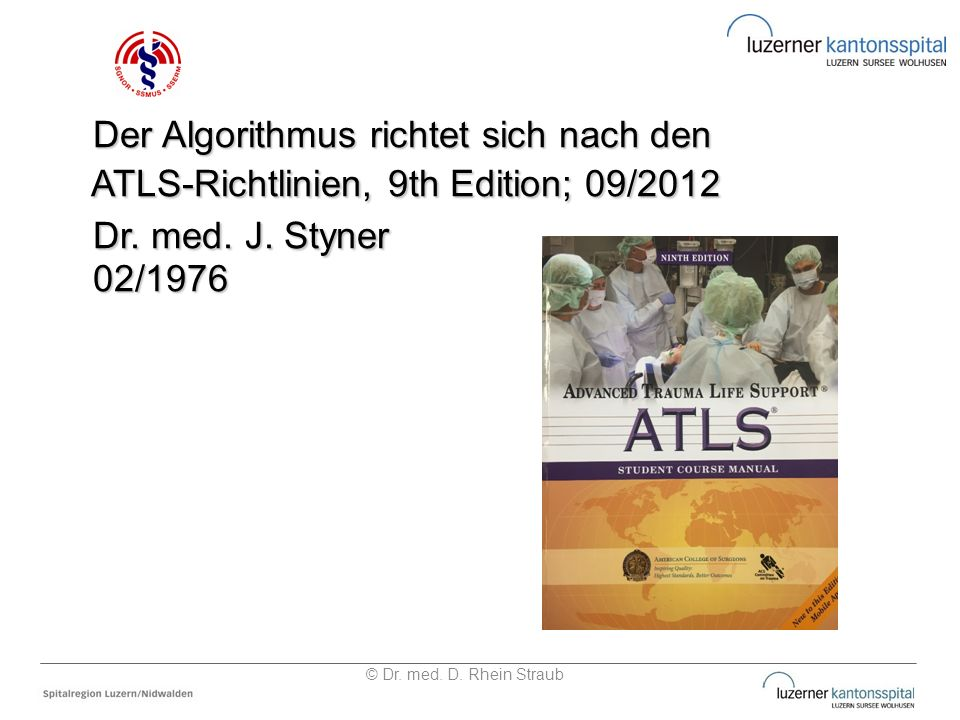 Dr. med. J. Styner Der Algorithmus richtet sich nach den