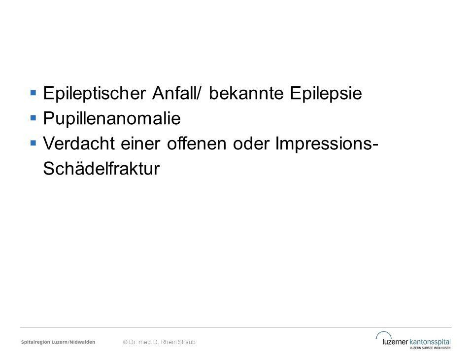 Epileptischer Anfall/ bekannte Epilepsie Pupillenanomalie
