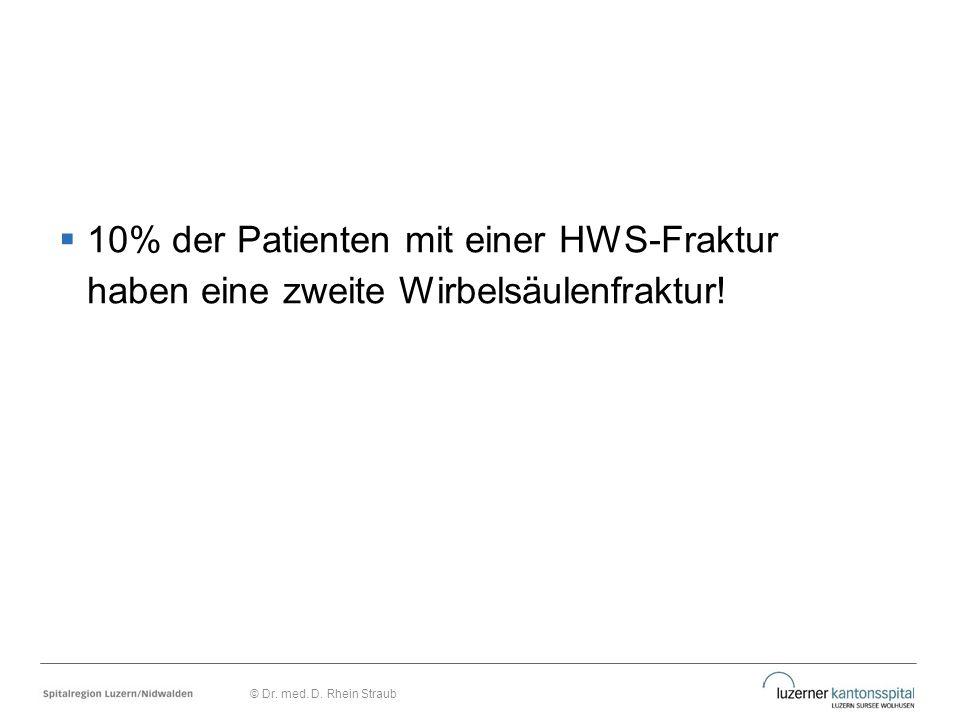 10% der Patienten mit einer HWS-Fraktur