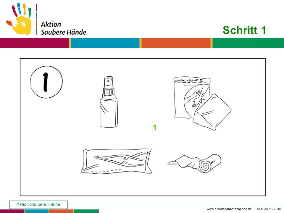 Schritt 1 Keine Chance den Krankenhausinfektionen Aktion Saubere Hände