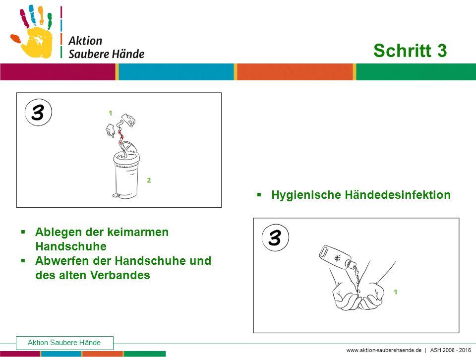 Schritt 3 Hygienische Händedesinfektion