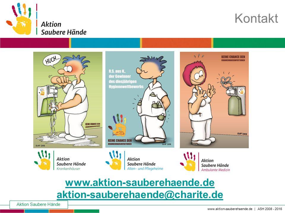 Kontakt www.aktion-sauberehaende.de aktion-sauberehaende@charite.de