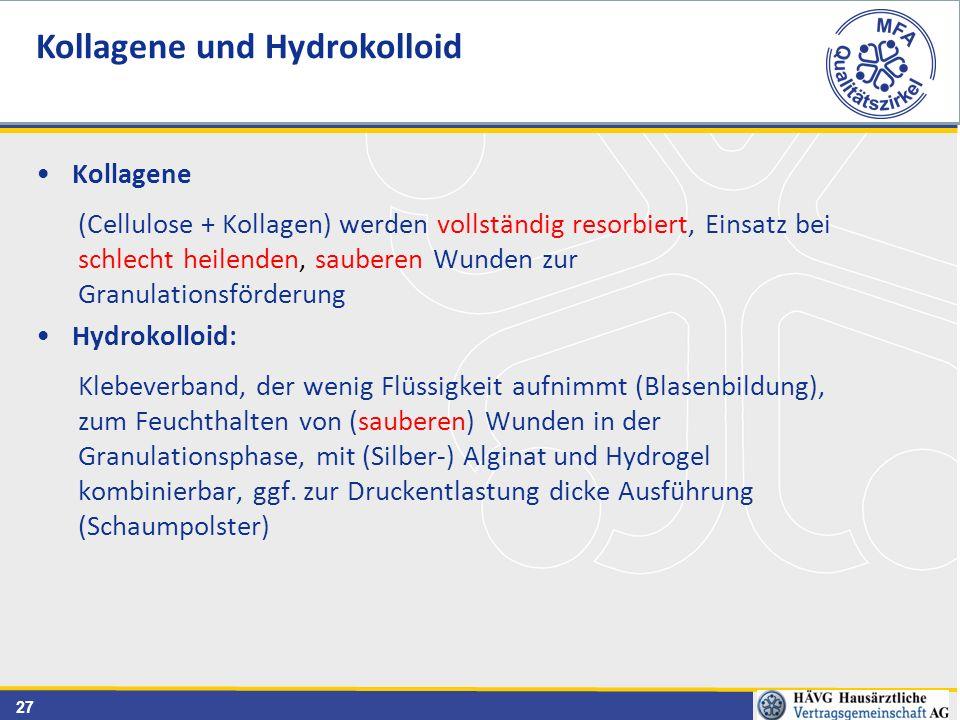 Kollagene und Hydrokolloid