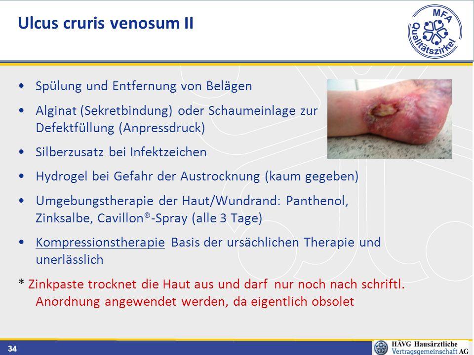 Ulcus cruris venosum II