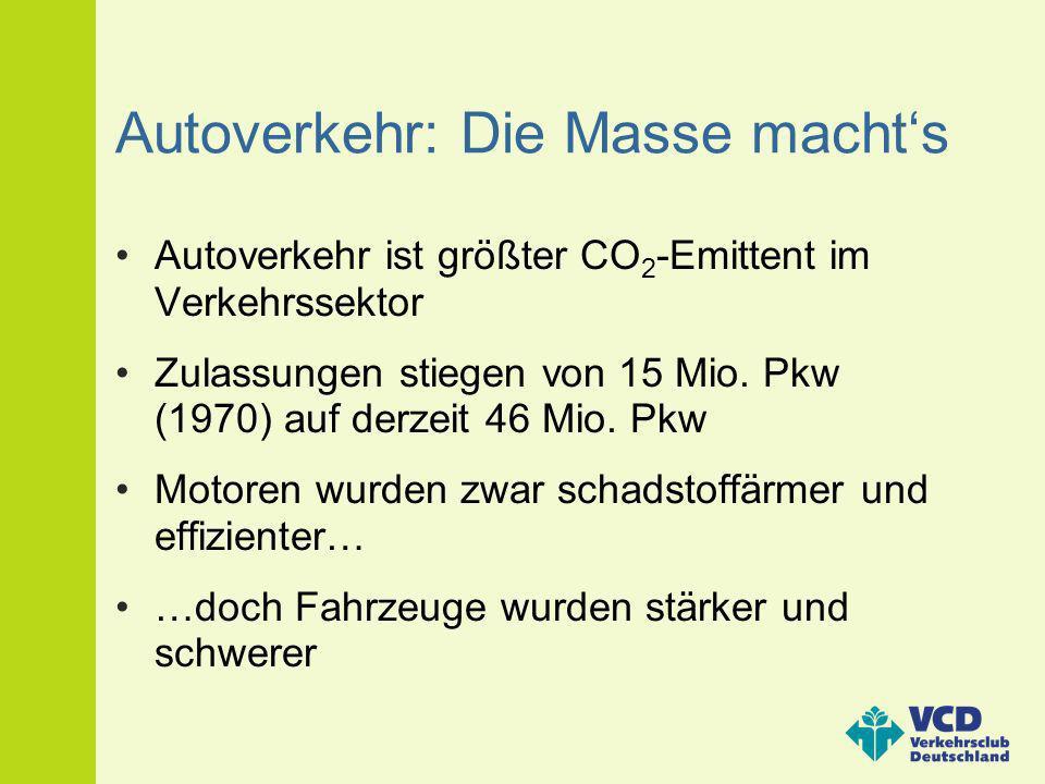 Autoverkehr: Die Masse macht's