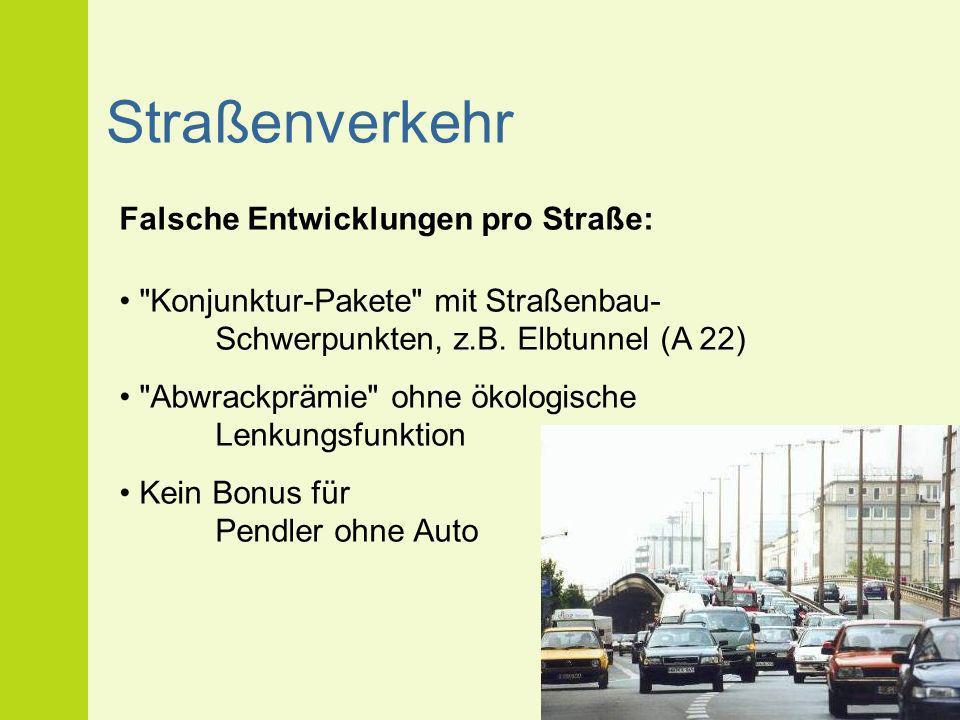 Straßenverkehr Falsche Entwicklungen pro Straße: