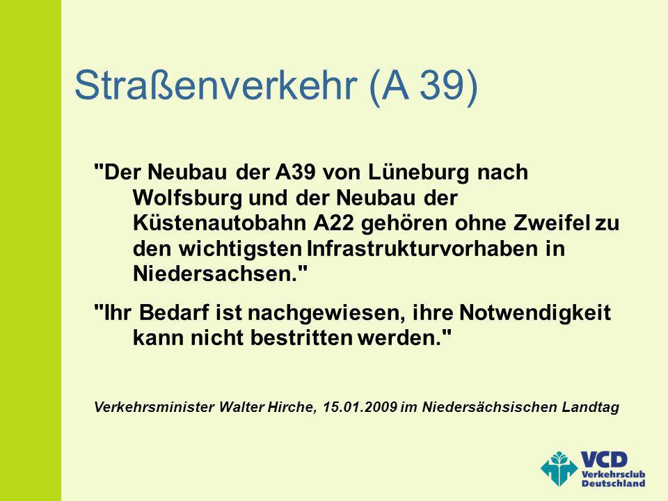 Straßenverkehr (A 39)