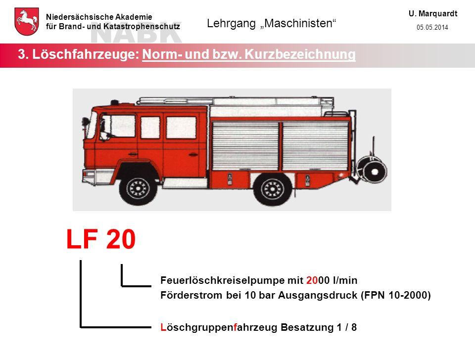 3. Löschfahrzeuge: Norm- und bzw. Kurzbezeichnung