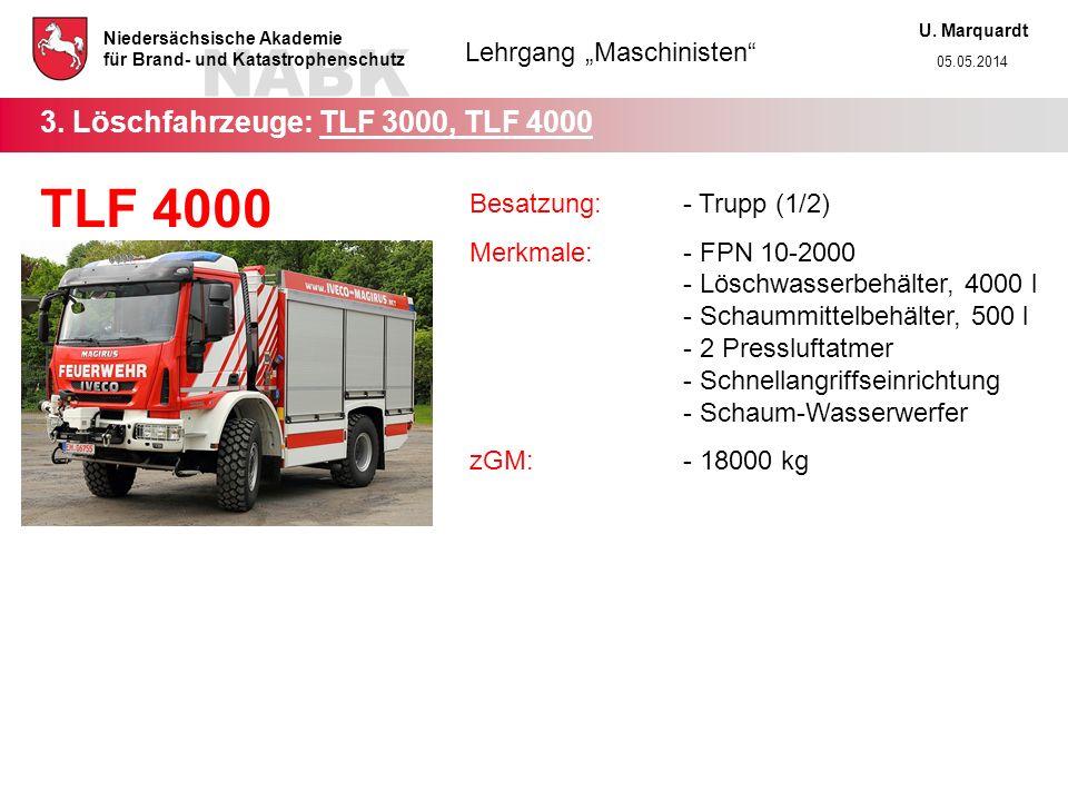 3. Löschfahrzeuge: TLF 3000, TLF 4000