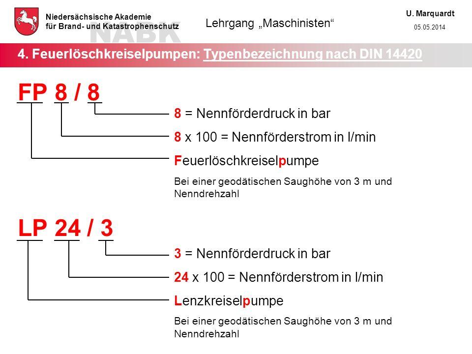 4. Feuerlöschkreiselpumpen: Typenbezeichnung nach DIN 14420