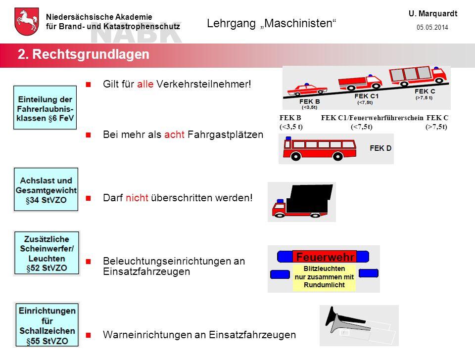 2. Rechtsgrundlagen Gilt für alle Verkehrsteilnehmer!