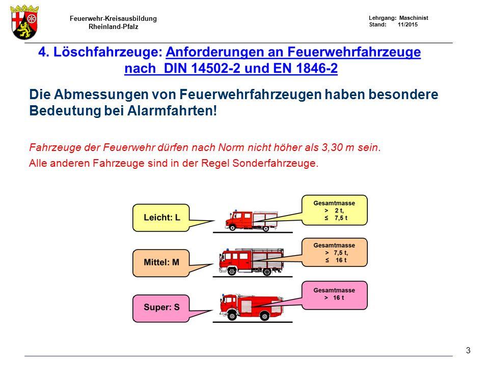Die Abmessungen von Feuerwehrfahrzeugen haben besondere Bedeutung bei Alarmfahrten!