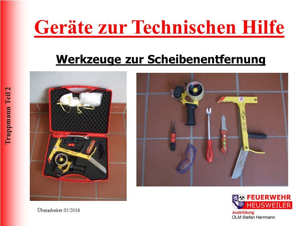 Geräte zur Technischen Hilfe Werkzeuge zur Scheibenentfernung