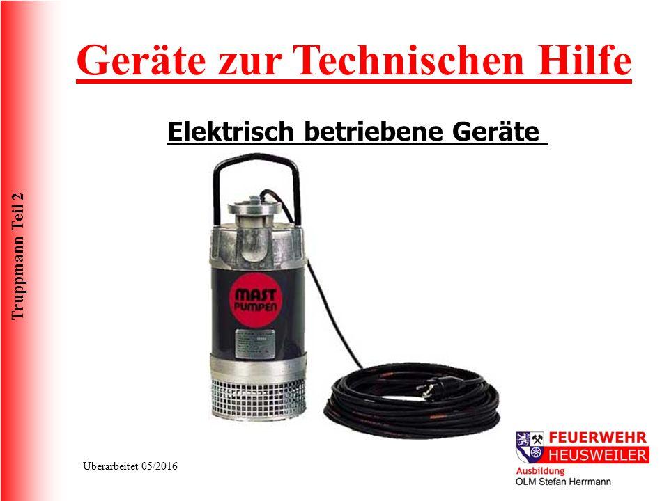 Geräte zur Technischen Hilfe Elektrisch betriebene Geräte