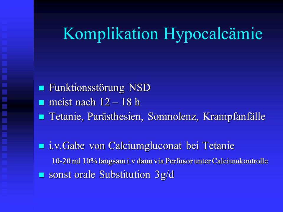 Komplikation Hypocalcämie