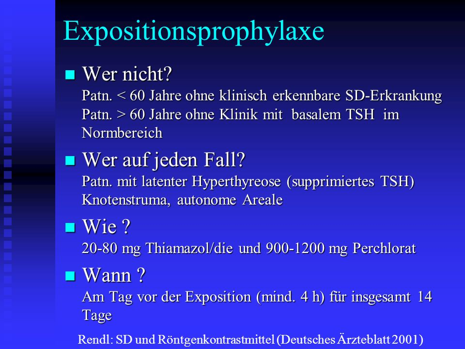 Expositionsprophylaxe