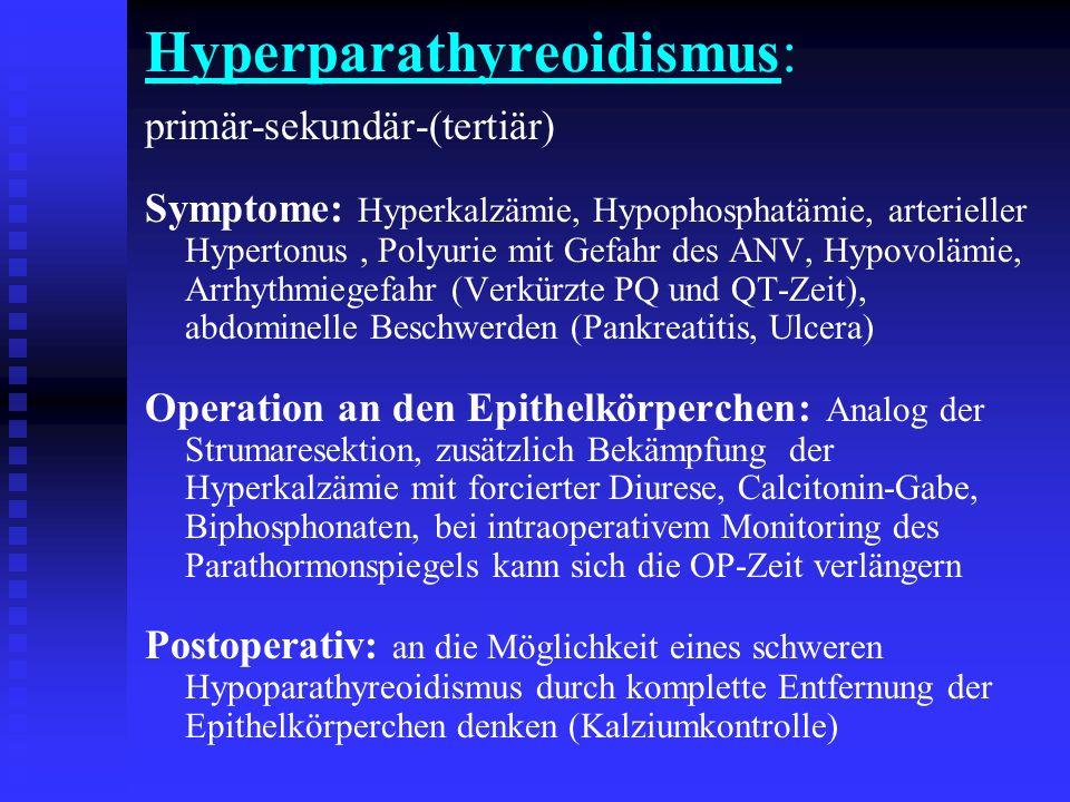 Hyperparathyreoidismus: