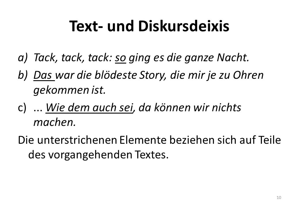 Text- und Diskursdeixis