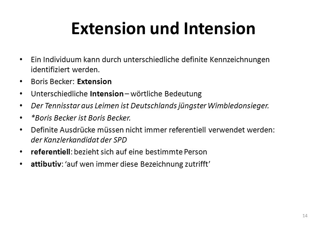Extension und Intension