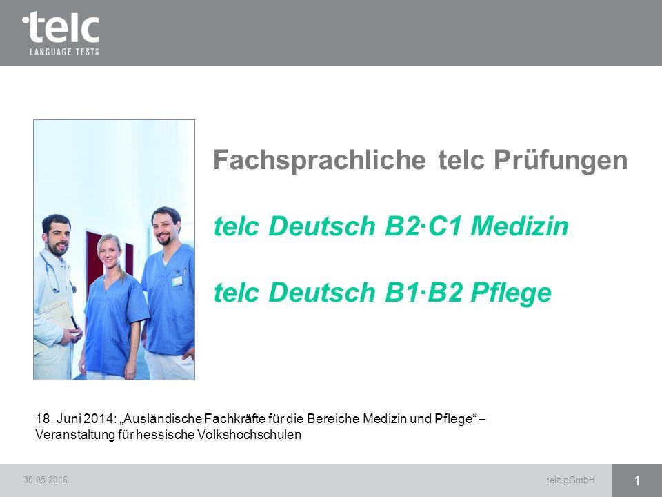Fachsprachliche telc Prüfungen telc Deutsch B2·C1 Medizin