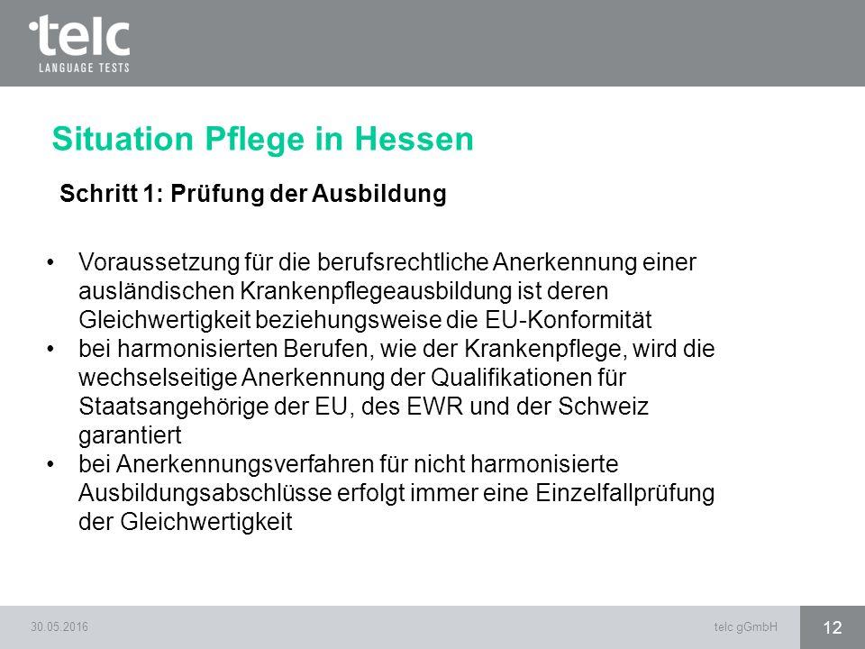 Situation Pflege in Hessen