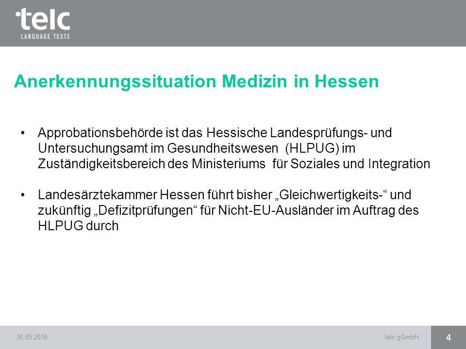 Anerkennungssituation Medizin in Hessen