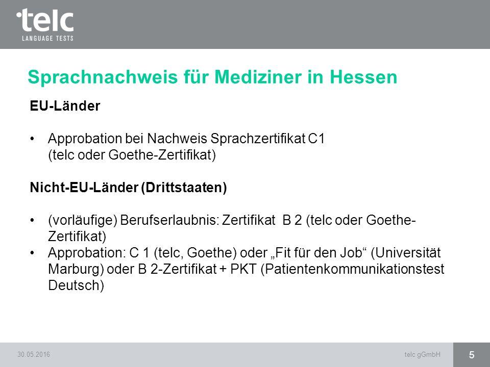 Sprachnachweis für Mediziner in Hessen