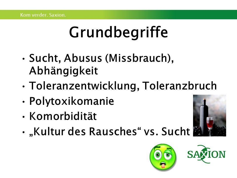 Grundbegriffe Sucht, Abusus (Missbrauch), Abhängigkeit