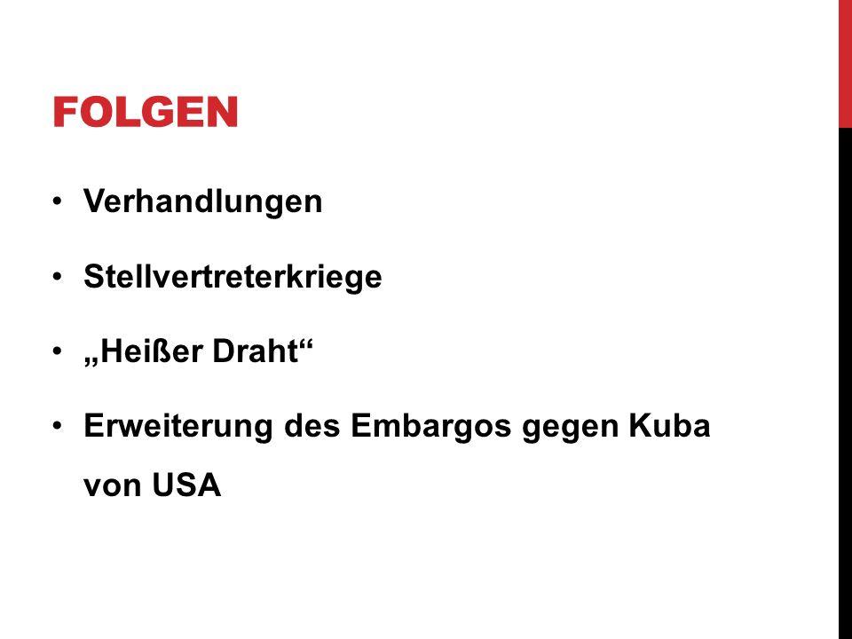 """Folgen Verhandlungen Stellvertreterkriege """"Heißer Draht"""