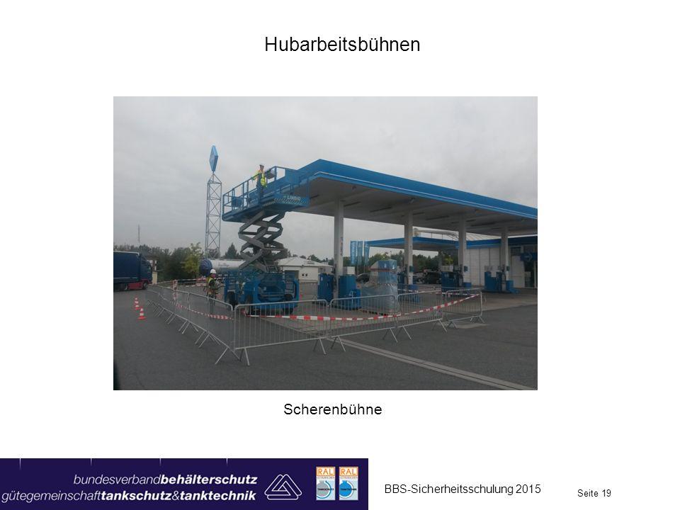 Hubarbeitsbühnen Scherenbühne BBS-Sicherheitsschulung 2015