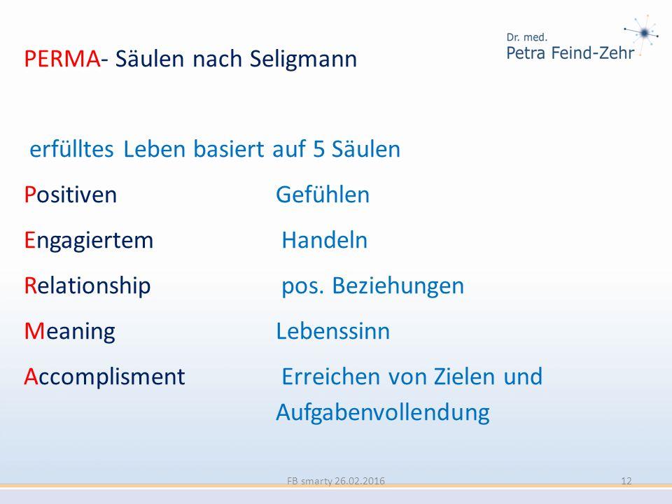 PERMA- Säulen nach Seligmann