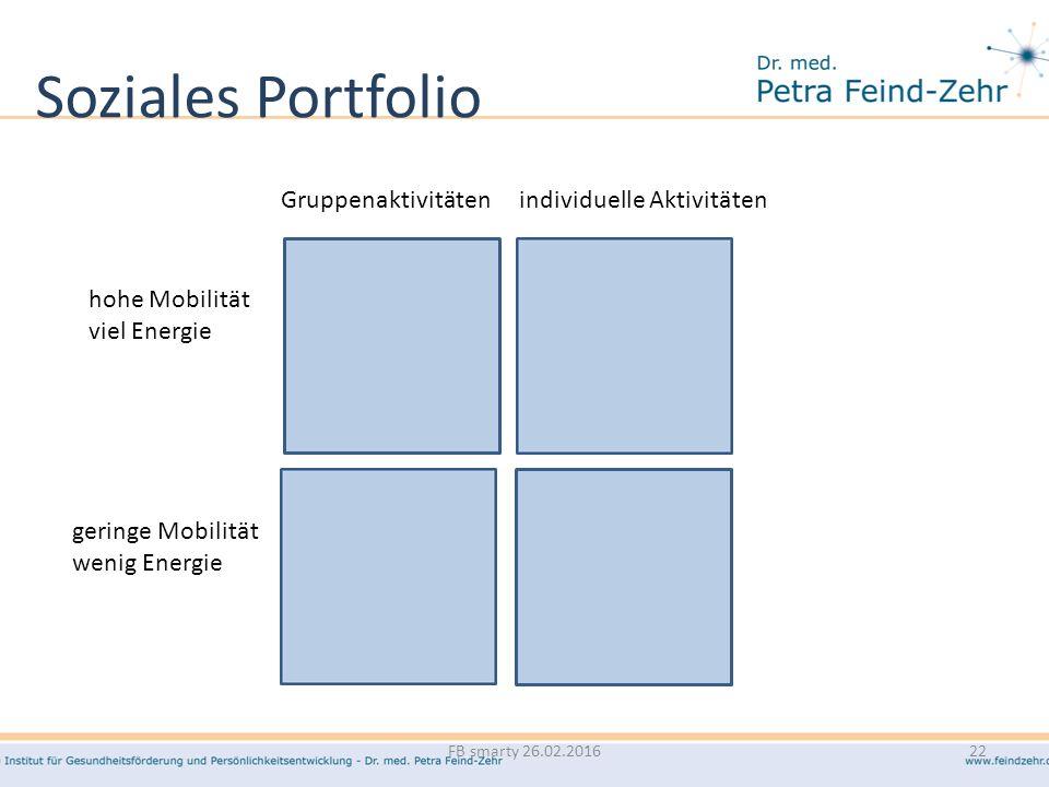Soziales Portfolio Gruppenaktivitäten individuelle Aktivitäten