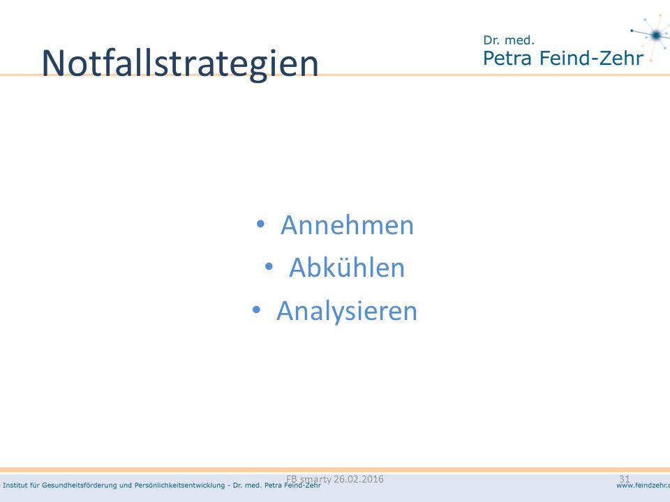 Notfallstrategien Annehmen Abkühlen Analysieren FB smarty 26.02.2016