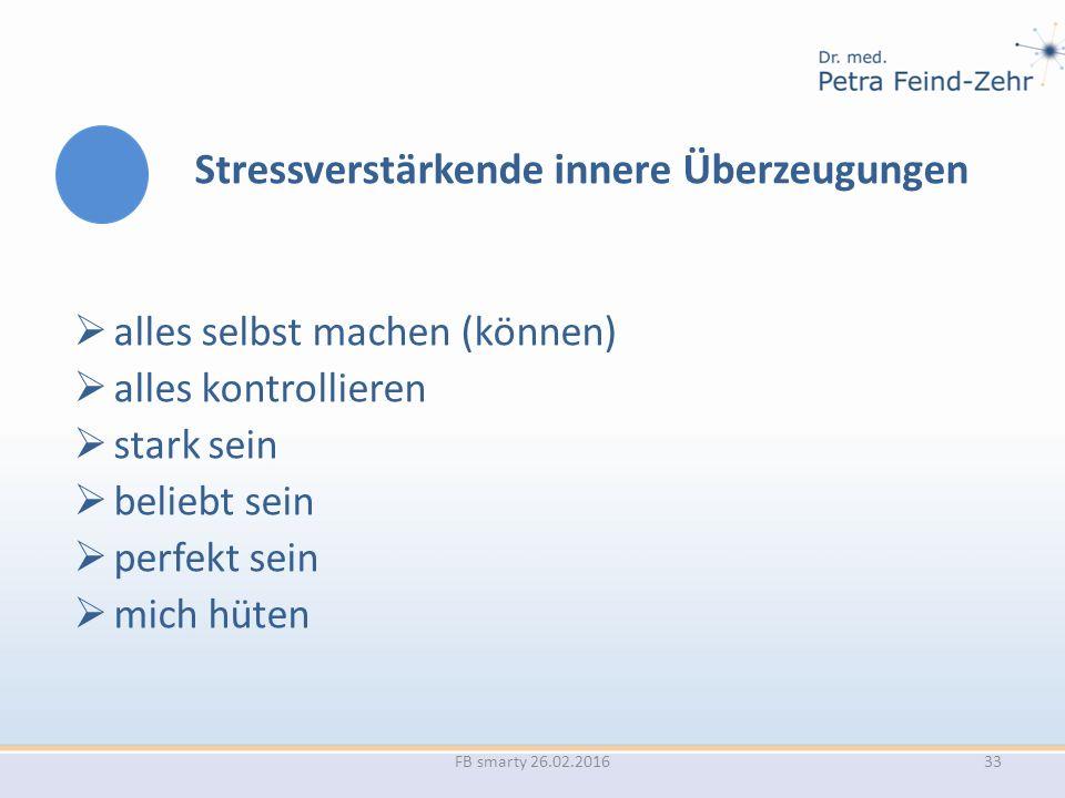 Stressverstärkende innere Überzeugungen