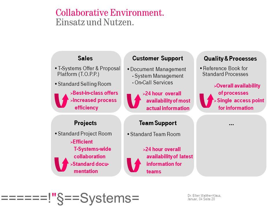 Collaborative Environment. Einsatz und Nutzen.
