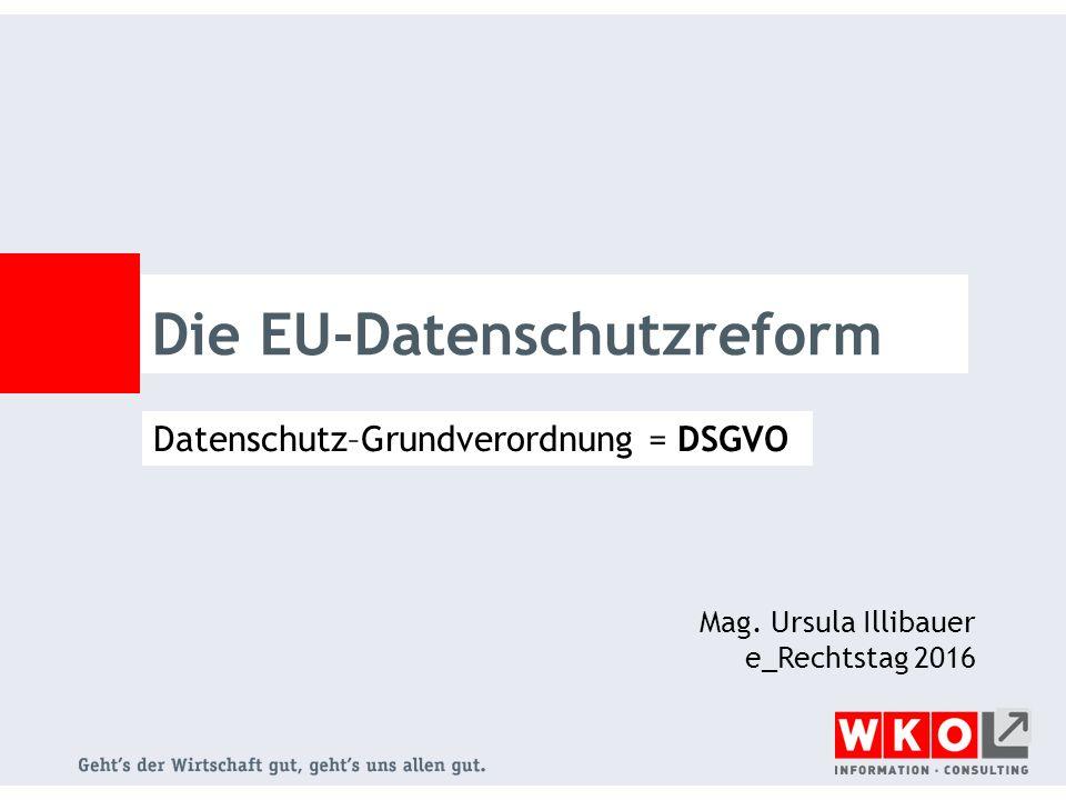 Die EU-Datenschutzreform