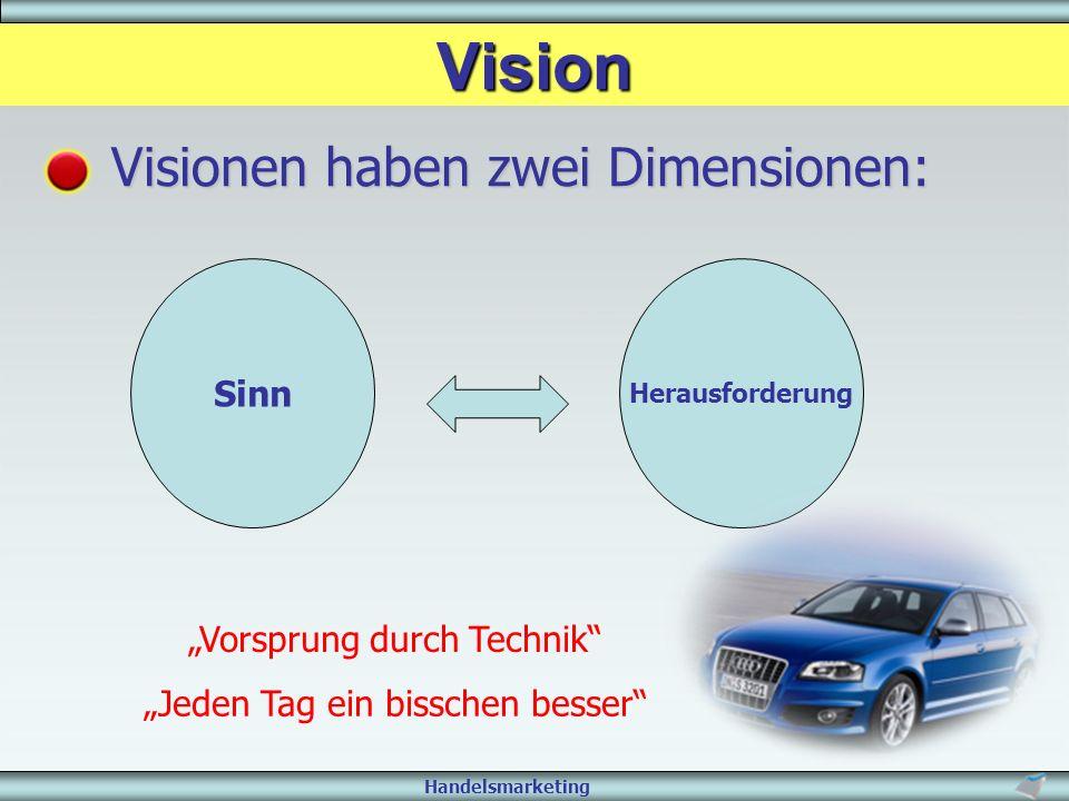 """Vision Visionen haben zwei Dimensionen: Sinn """"Vorsprung durch Technik"""