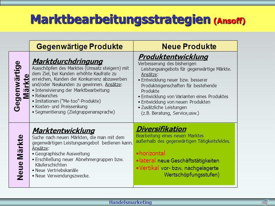 Marktbearbeitungsstrategien (Ansoff)