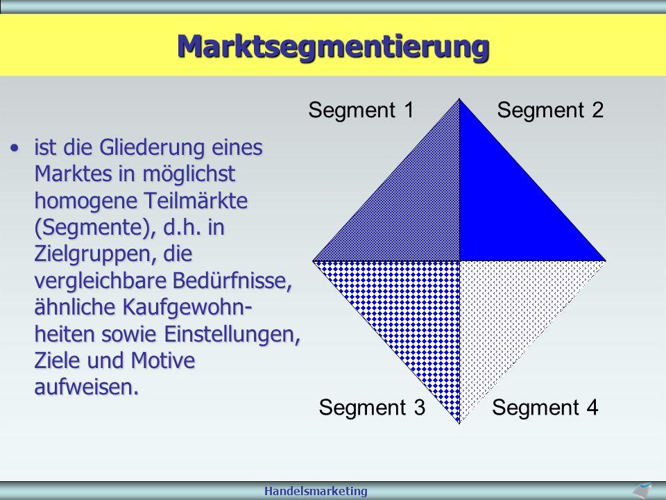Marktsegmentierung Segment 1 Segment 2