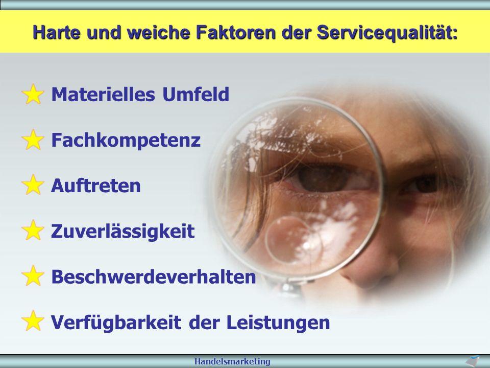 Harte und weiche Faktoren der Servicequalität: