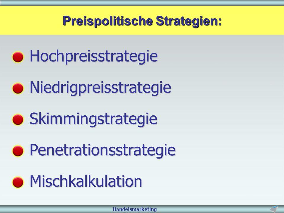 Preispolitische Strategien:
