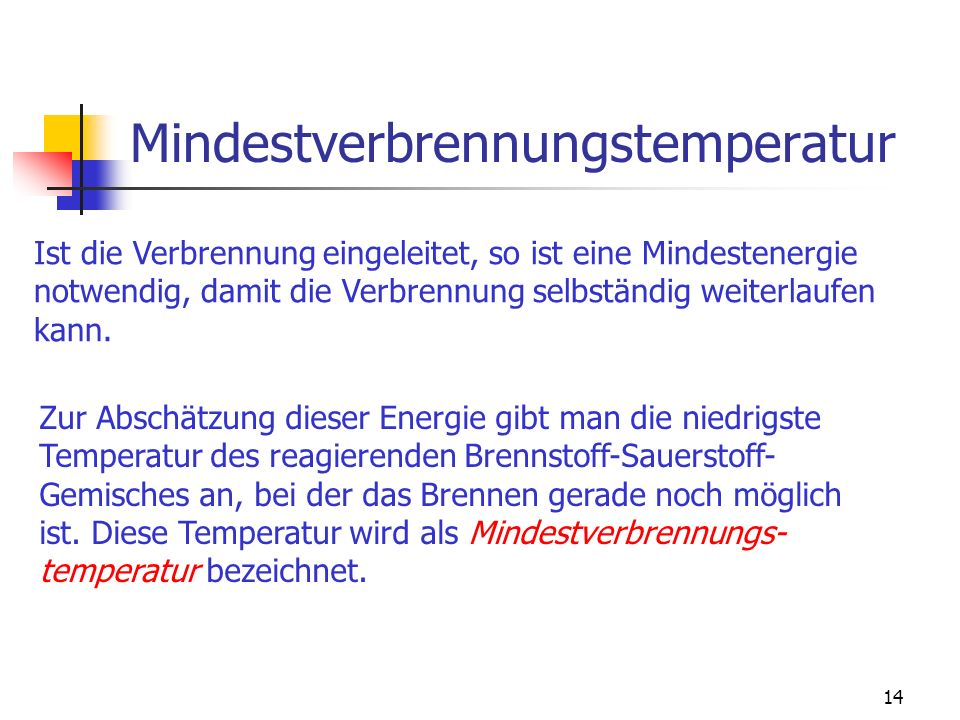 Mindestverbrennungstemperatur