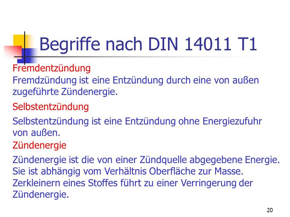 Begriffe nach DIN 14011 T1 Fremdentzündung